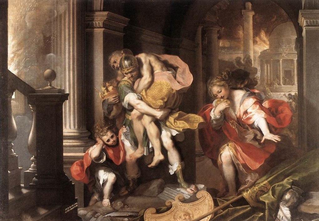 Fuga di Enea da Troia